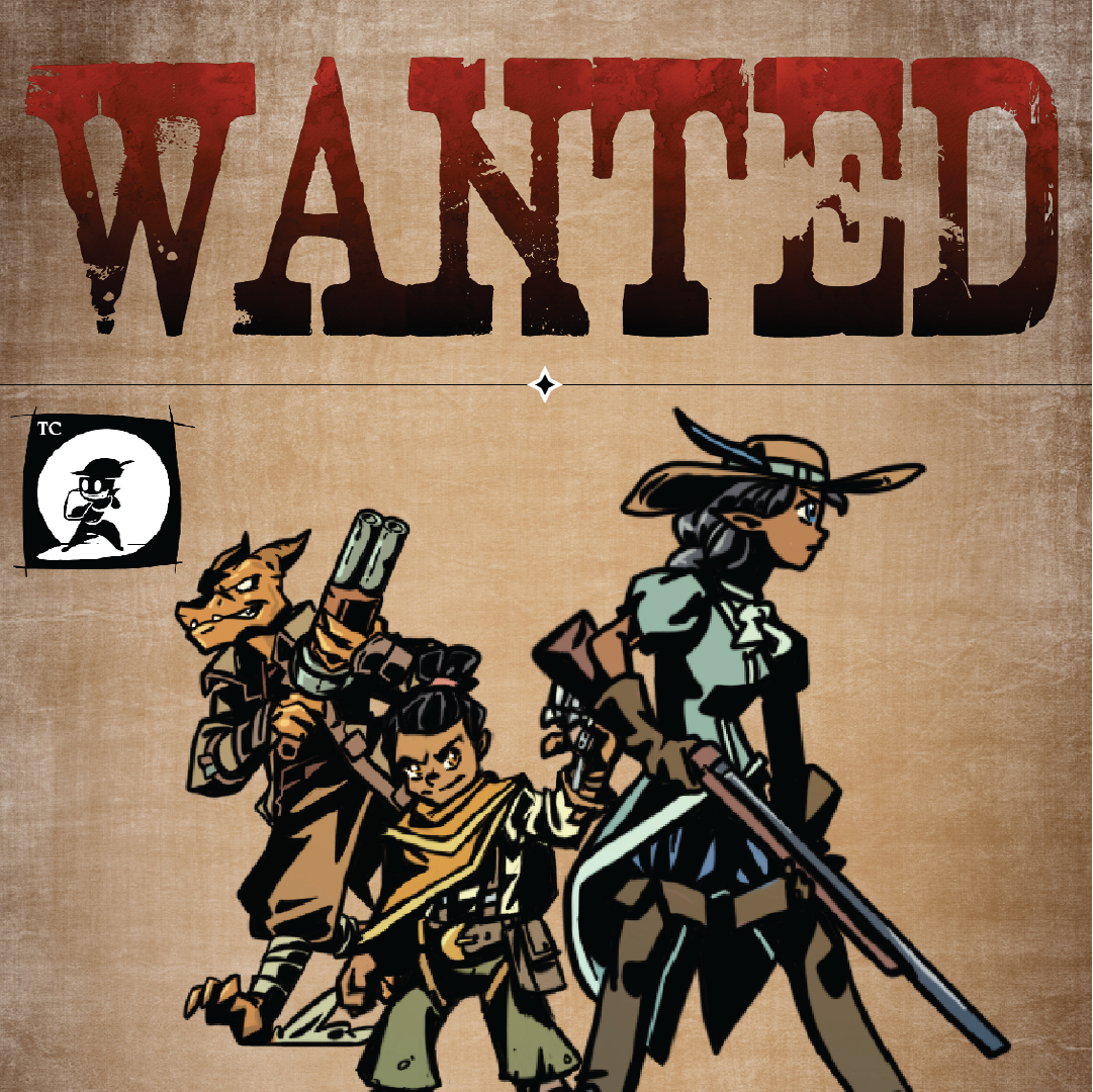 WANTED: Firearms Rules & Feats, & 6 Gunslinger Paper Minis